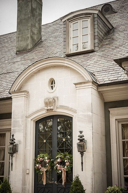 Door facade old house residential structure wall for French country doors