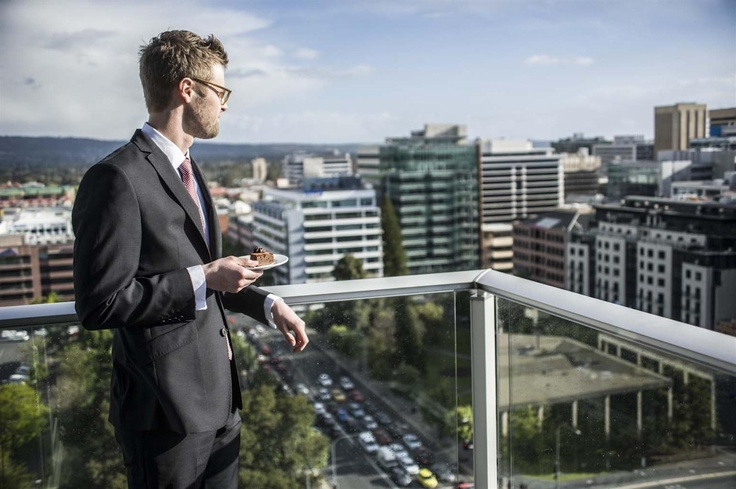 City views from Crowne Plaza Adelaide