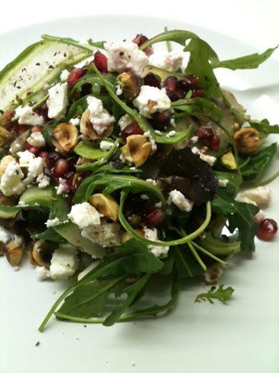Salade granaatappel, noten & fetakaas #healthyfood