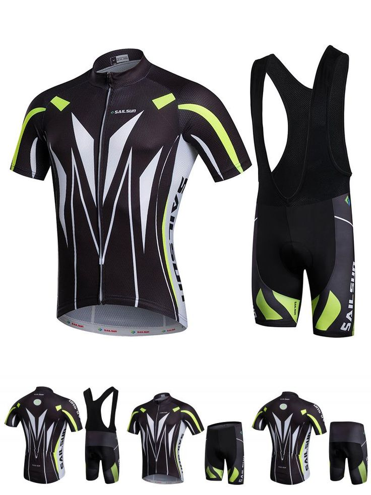 [Visit to Buy] Hot Men Bike Jersey or Cycling Bib Shorts Black White MTB Team Cycling Top Pro Bicycle Short Sleeve Clothing Breathable #Advertisement