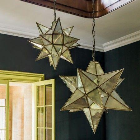 Brass Star Pendants - Chandeliers & Ceiling Lights - Lighting - Lighting & Mirrors