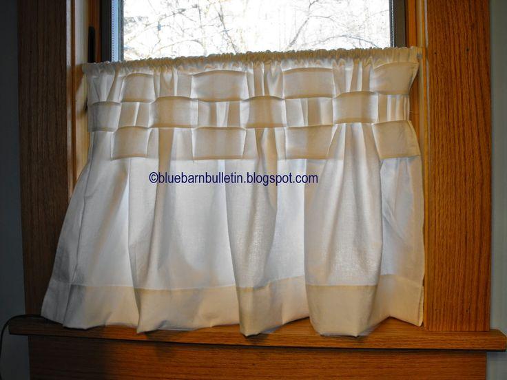 Blue Barn Bulletin-my finished curtain.
