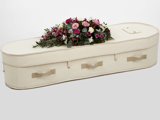 Campaign for Wool NZ Brand Partner Natural Legacy offer a woollen coffin a natural option for your loved ones.