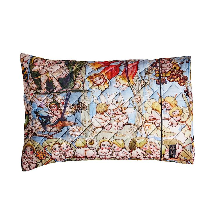 PRE ORDER MAY GIBBS X KIP&CO BUSH FRIENDS QUILTED 1P PILLOW CASE - May Gibbs
