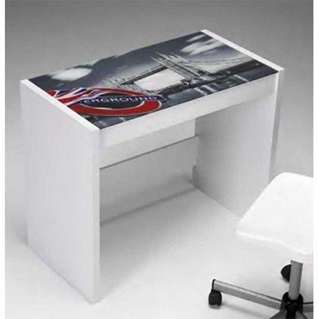si estas buscando una mesa de escritorio diferente te presentamos esta mesa en color blanco con