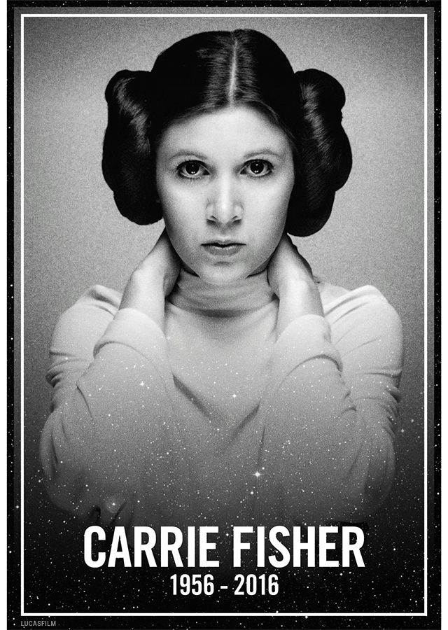 R.i.p. Princess Leia. You will be missed dearly. Thank you for all that you did. We love you.