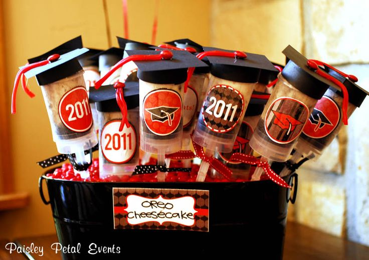 graduation table decorations | ... asked about items on the table…the Oreo Cheesecake Push-up Pops