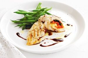 Chicken parcels with basil, tomato and bocconcini