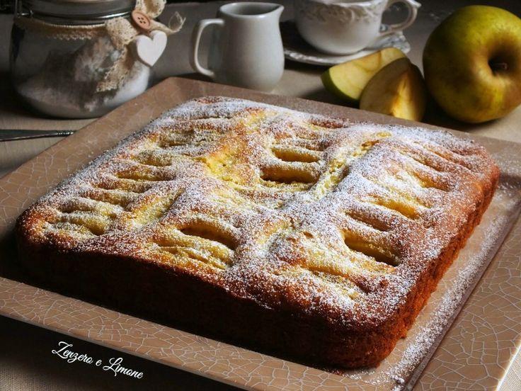 Torta+di+mele+al+profumo+di+limone