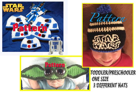Star Wars Yoda R2D2 Inspired Hat Pattern by LoveCareHandmade