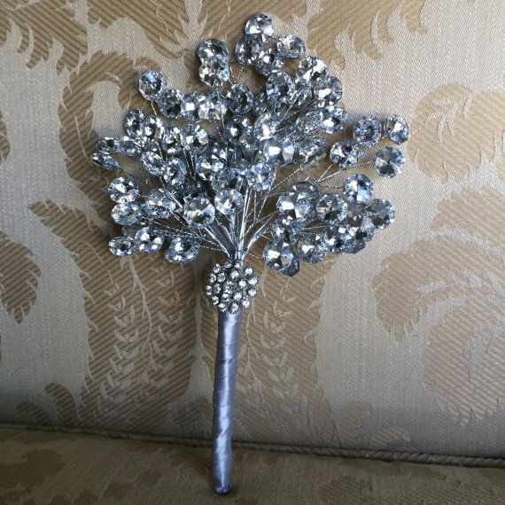 silver bouquet for maid of honor bridesmaid bouquet bling wedding silver brooch bouquet mother of the bride bouquet wedding flowers