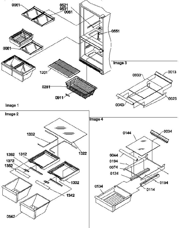 Maytag Refrigerator BC20TW-P1196514WW Parts List