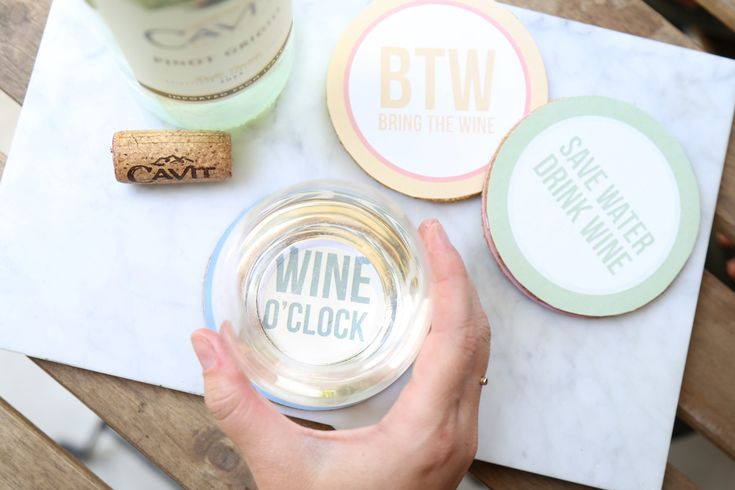 Follow these 4 simple steps to create your own custom coasters with wine puns and other silly sayings. Cheers! Evite DIY Drink Coasters