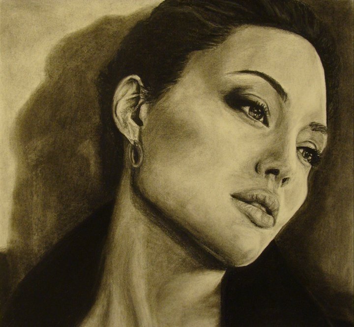 Charcoal drawing by Katrina Weidknecht