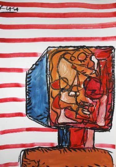 """Saatchi Art Artist Roman Lasa; Painting, """"Face"""" #art"""