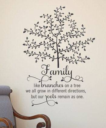 Family Tree Wall Quote | Daily deals for moms, babies and kids