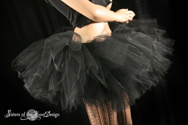 Ultimate Midnight black tutu skirt extra extra poofy Adult --You Choose Size -- Sisters of the Moon