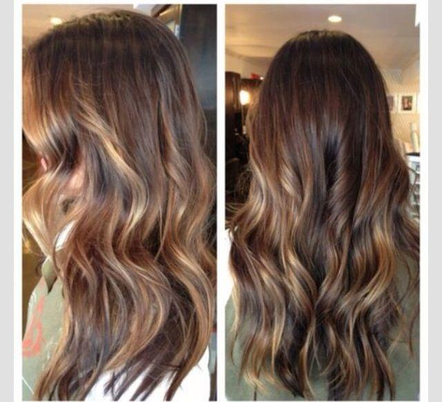 Brown hair/ highlights