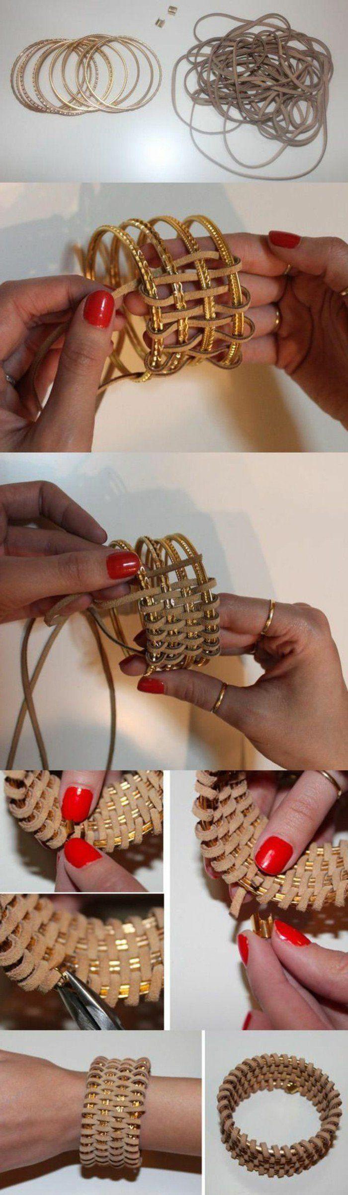 Les 227 meilleures images du tableau bijoux sur pinterest bijoux collier colliers de perles - Bracelet a faire soi meme ...