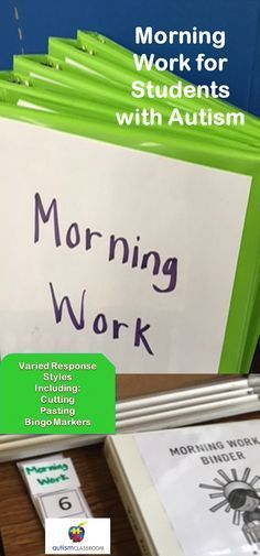 Morning work for the year. #specialeducation #morningwork #autism�
