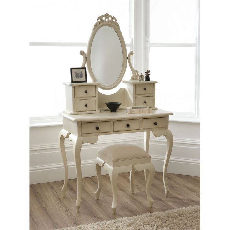 Vintage Dressing Table Vanity Set - Real Wood Home Office Furniture Check more at http://www.nikkitsfun.com/vintage-dressing-table-vanity-set/