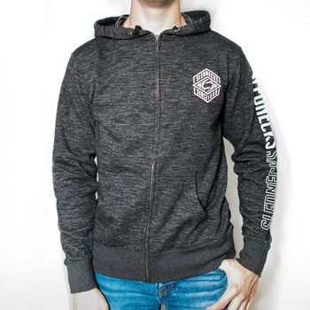 SLEDNECKS DIABOLICAL TEXTURED FRENCH TERRY ZIP-UP (2017)