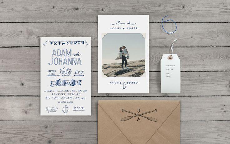 Tant Johanna's wedding invitation - by Cecilia Hedin