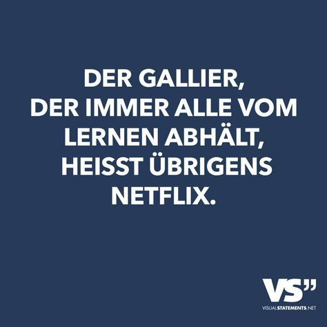 Der Gallier, der immer alle vom Lernen abhält, heisst übrigens Netflix