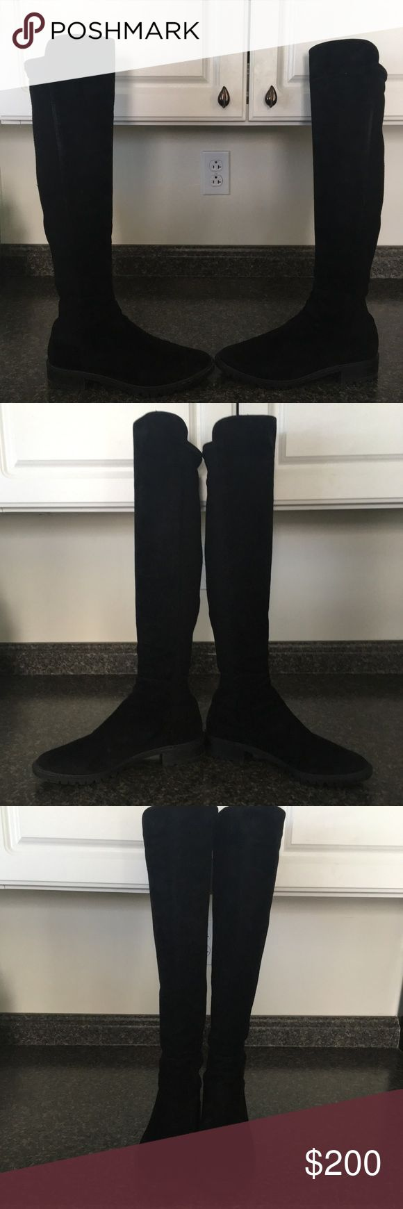 STUART WEITZMAN 5050 Leather Scuba Boots Great Preowned Condition with some light spots on the toes & heels. Women's Size 8 ❤️ Stuart Weitzman Shoes Over the Knee Boots