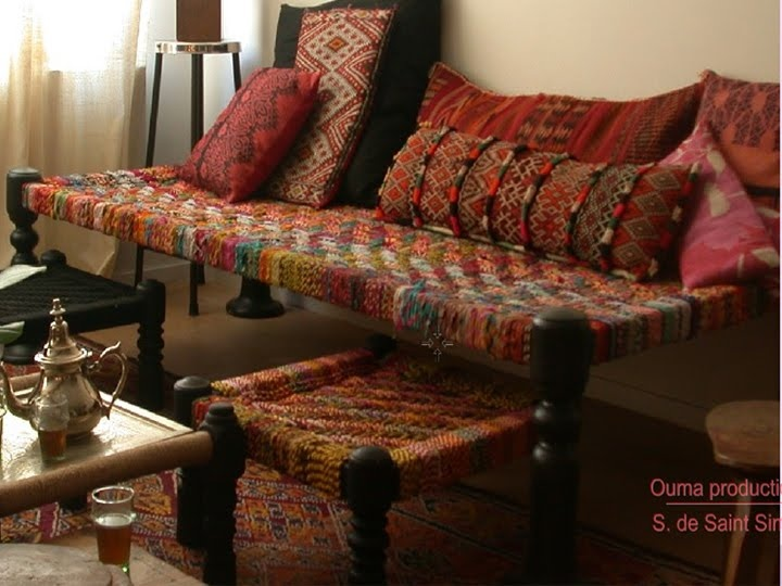 Traditional Indian hand woven furniture made of wood and Jute.'Chaarpayi' as they are known as In India. The textured cushions teamed with these look beautiful.