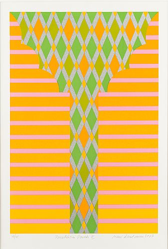 Mari Rantanen: Paratiisin portti II, 2007, serigrafia, 44,5x29,5 cm, edition 40/75 - Bukowskis Market 5/2016