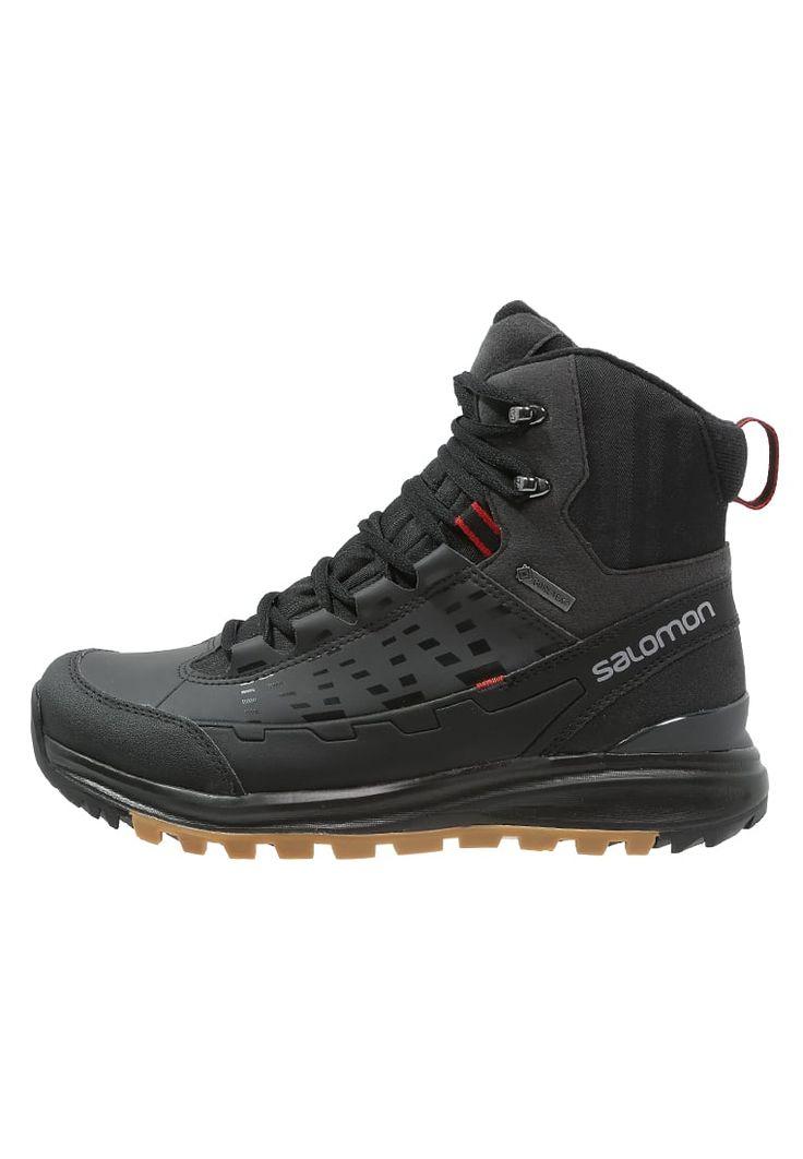 Salomon KAIPO MID GTX - Winter boots - black/asphalt/flea - Zalando.co.uk