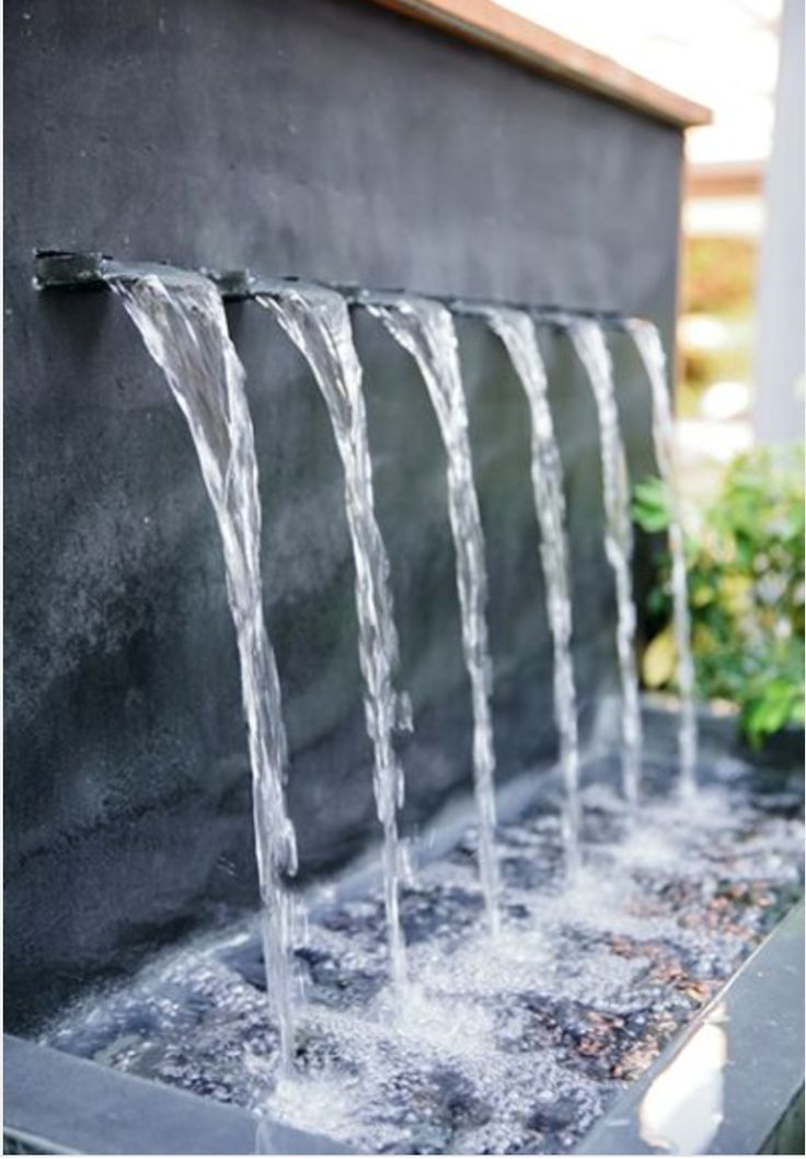 Calming water feature #waterfeatures