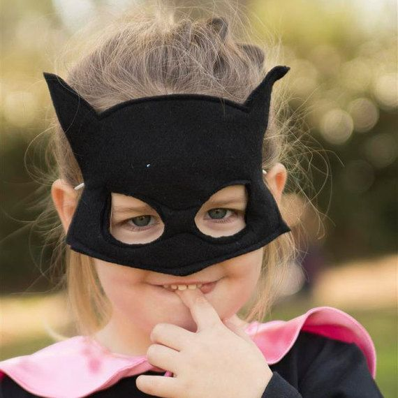 Batman Handmade girls boys Batman felt mask Toddler Batman costume accesories Super Hero mask for children toddlers and baby Natural gender