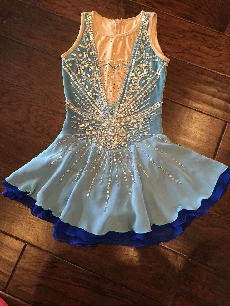 figure skating competition dress in Sporting Goods, Winter Sports, Ice Skating | eBay