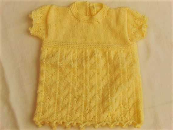 Lemon Baby Dress with Leaf Patterned Skirt by Creationsfortinytots