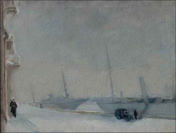 Pakulin V - Набережная Невы. Корабли. Морозныи ден