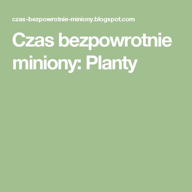 Czas bezpowrotnie miniony: Planty