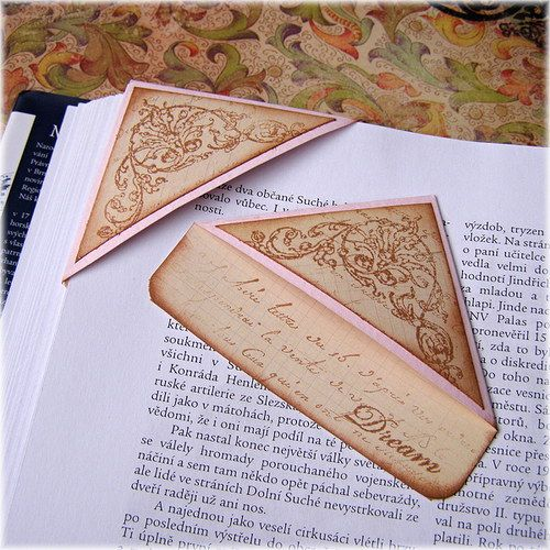 Bookmark: I make these from envelope corners and write/doodle on them.