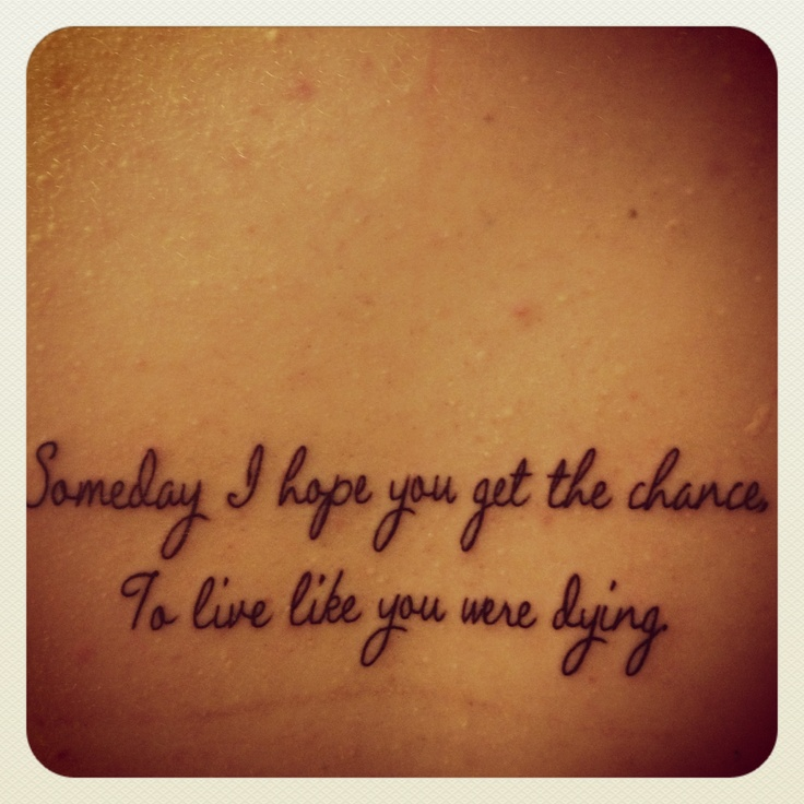country song quotes tattoos - photo #29