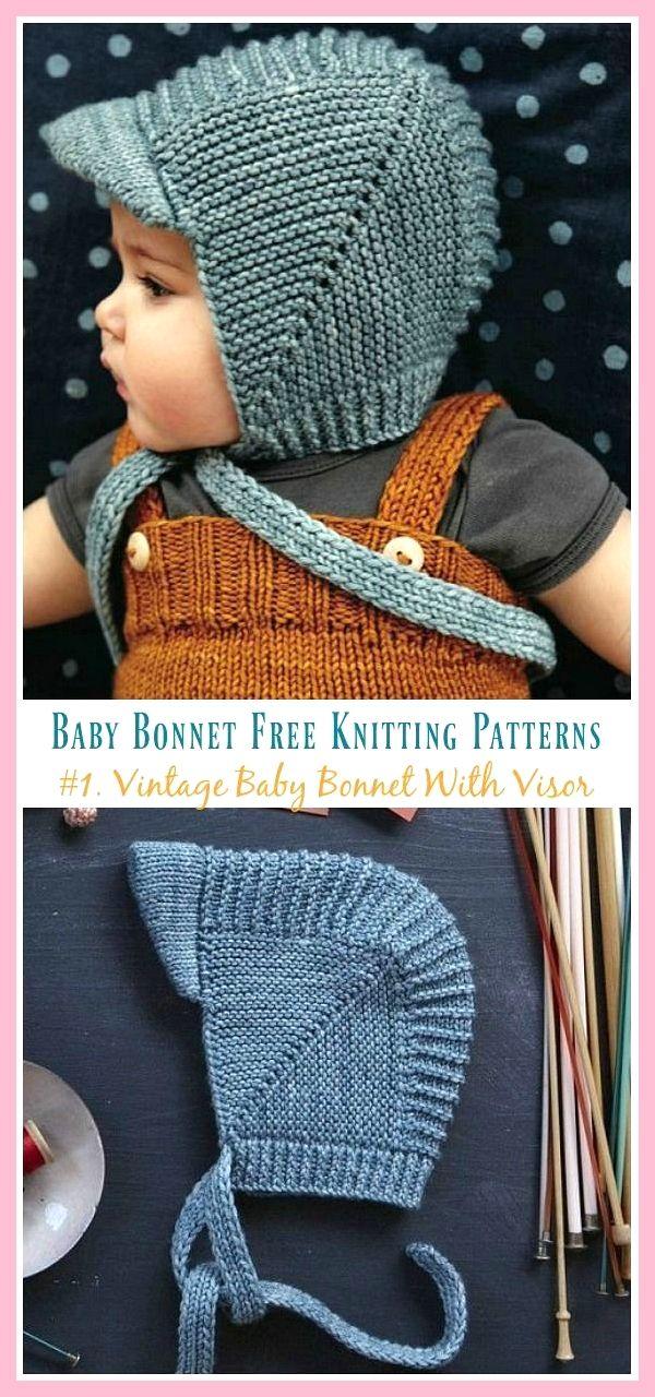 Spiksplinternieuw Vintage baby muts met vizier gebreide gratis instructies #Baby JD-37