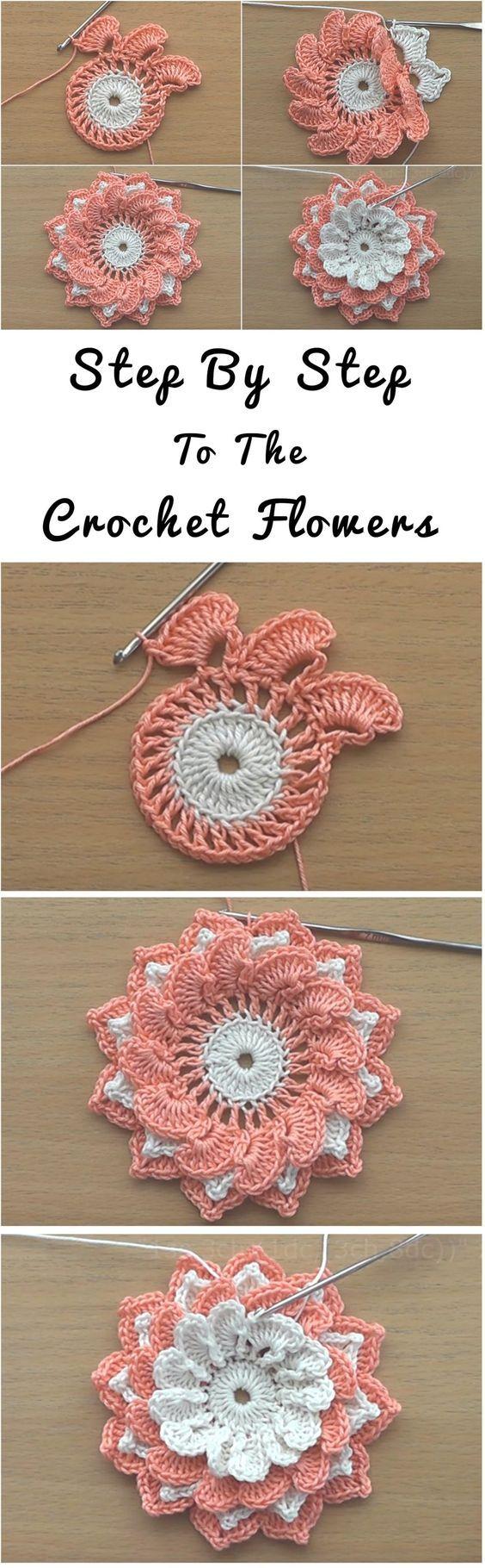 Flor de Crochet Flowers Tutorial