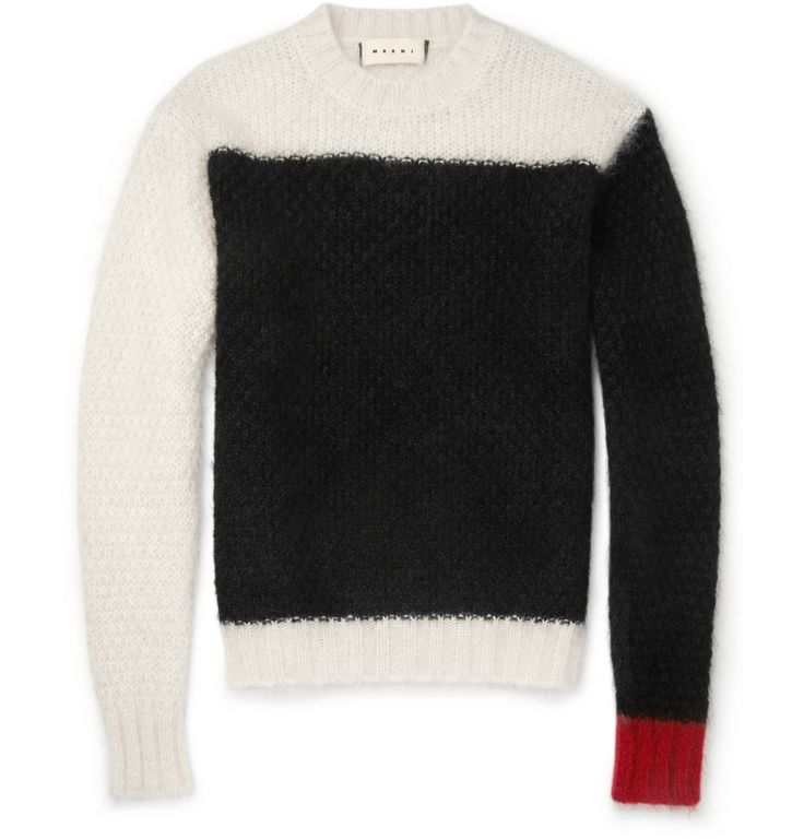 Marni - Panelled Mohair-Blend Sweater (Just like the one Johnny Rotten used to wear!)