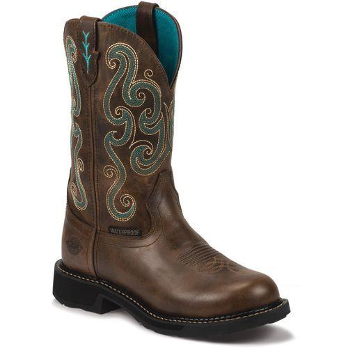 Justin Women's Tasha Waterproof Work Boots (Brown, Size 10.5) - Women's Work Boots at Academy Sports