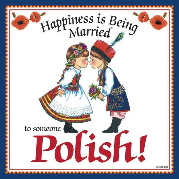 "Polish Gift For Women Tile ""Married to Polish"" – DutchNovelties"