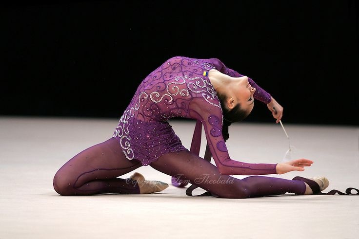 Anna Bessonova of Ukraine wins Gold, Silver and Bronze in rhythmic gymnastics apparatus finals at World Games from Duisburg, Germany on July 20-21, 2005.  Event finals in rhythmic gymnastics are only held at World Games. (Photo by Tom Theobald)