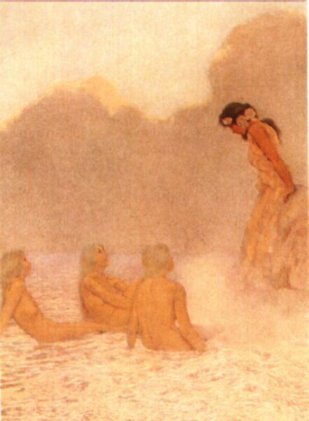 Maxfield Parrish--Sea Nymphs