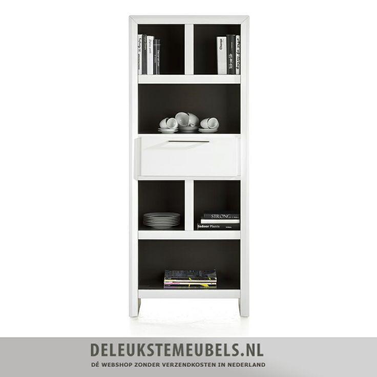 Deze moderne boekenkast van het merk henders hazel uit de kozani collectie is praktisch en heeft - Eigentijdse boekenkast ...