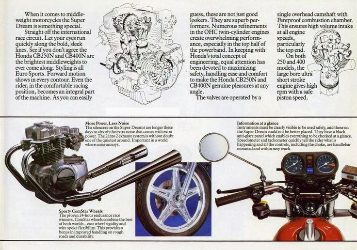 Honda CB250N/CB400N brochure