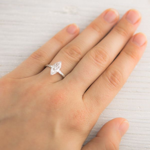 *****My Favorite****I LOVE this so unique 1.23 Carat Marquise Cut Vintage Engagement Ring
